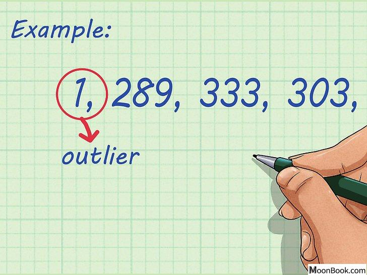 以Calculate Averages (Mean, Median, Mode) Step 1为标题的图片