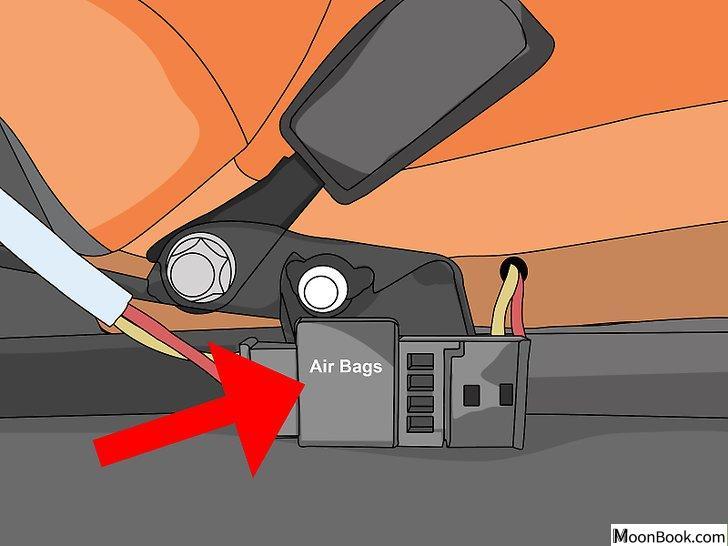 以Disable a Seat Belt Alarm Step 4为标题的图片