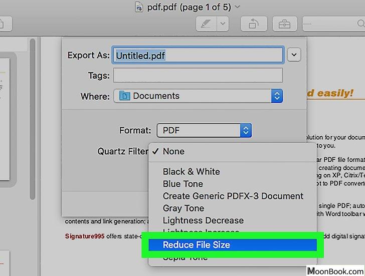 以Reduce PDF File Size Step 14为标题的图片