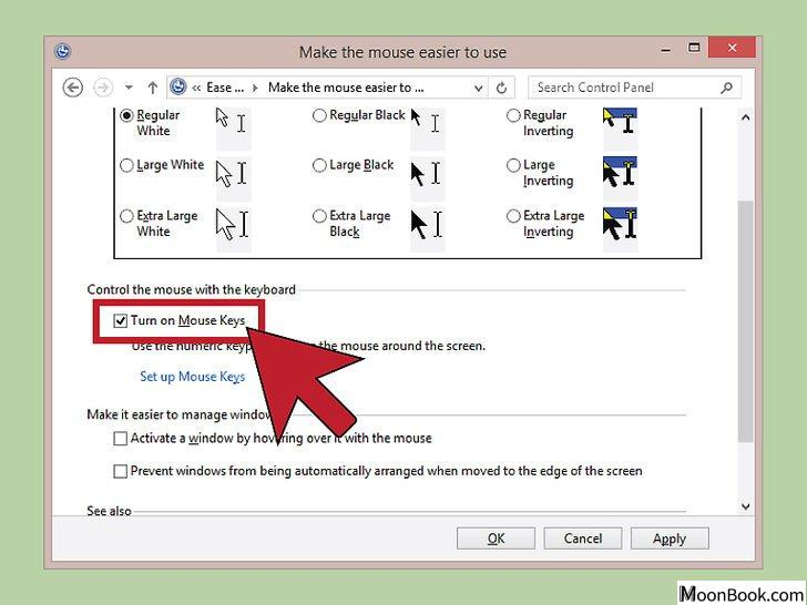 以Use a Keyboard to Click Instead of a Mouse Step 3为标题的图片