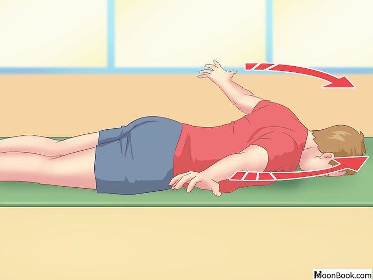 以Work Your Back Muscles at Home Step 1为标题的图片