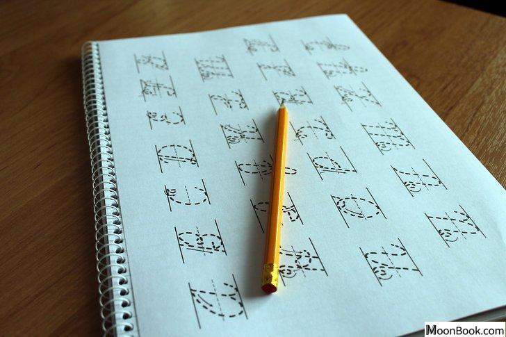 以Write in Cursive Step 9为标题的图片
