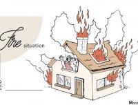 """看图测验:你对""""火灾""""的反应,正透露你最易陷入的职场危机"""