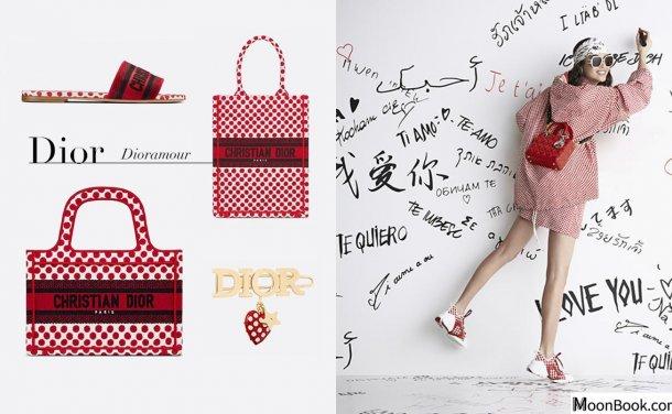 谱写浓情蜜意的红色波点,Dior 为七夕情人节献上 Dioramour 别注系列