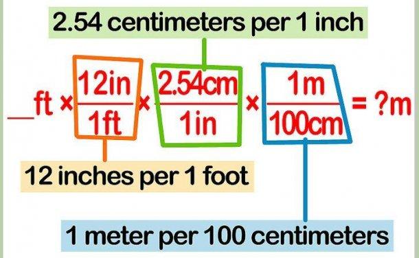 如何将英尺转换为米